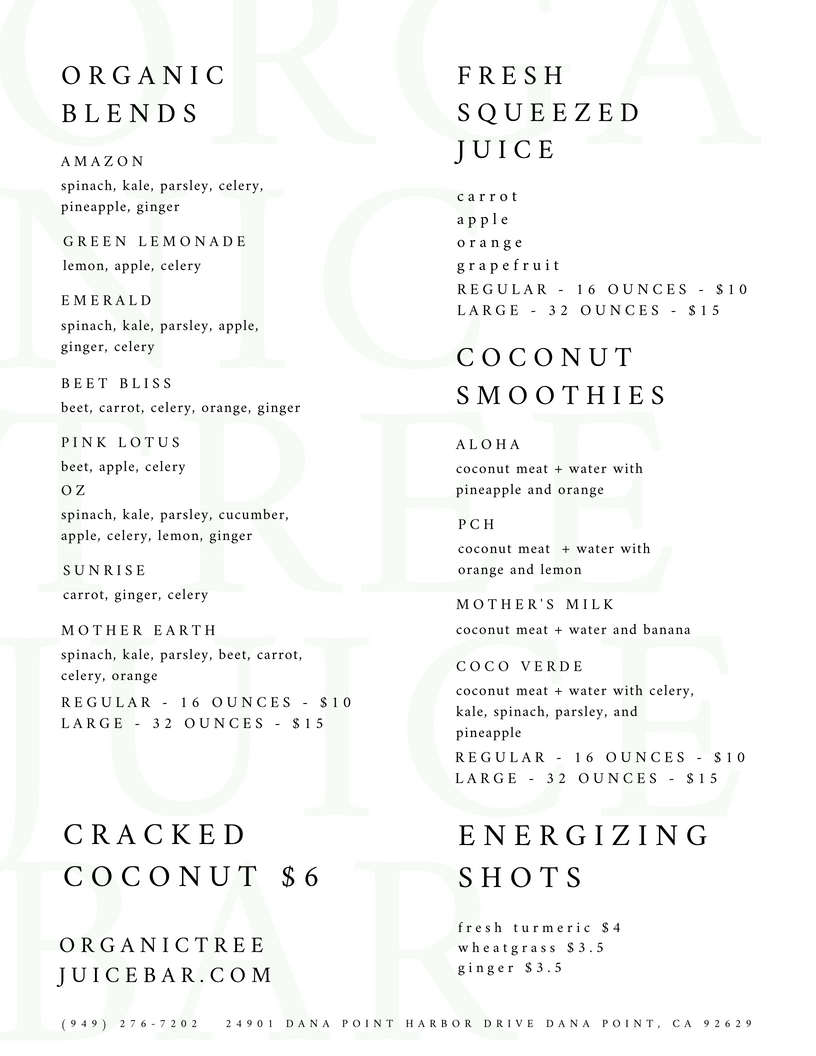 ogtree juice menu
