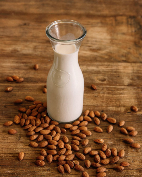 fresh-organic-sprouted-almond-milk